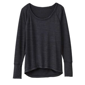 Athleta Top Dark Gray Long Sleeve High Low Knit